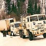 United Nations Convoy In Bosnia Art Print