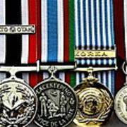 United Nations Peacekeeping Korean War Nato Medals Art Print