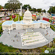 United States Capital Building At Legoland Print by Edward Fielding