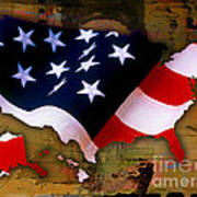 United States Map  Art Print by Marvin Blaine
