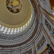 Unites States Capitol Rotunda Art Print by Susan Candelario
