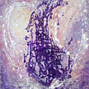 Universal Love Pastel Purple Lilac Abstract By Chakramoon Art Print