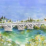 University Bridge Art Print by Pat Katz