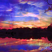 University Lakes At Twilight Art Print