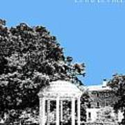 University North Carolina Chapel Hill - Light Blue Art Print