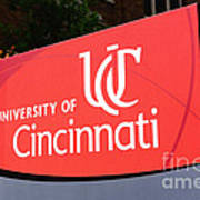 University Of Cincinnati Sign Art Print