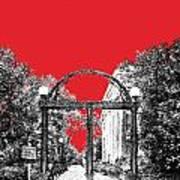 University Of Georgia - Georgia Arch - Red Art Print