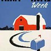 University Of Illnois Farm And Home Week Art Print by American Classic Art