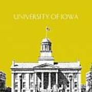 University Of Iowa - Mustard Yellow Art Print