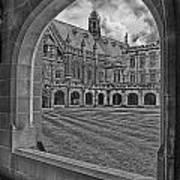 University Of Sydney-black And White V3 Art Print