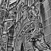 University Of Sydney-black And White V5 Art Print