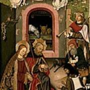 Unknown, Crib Altarpiece, 15th Century Art Print by Everett