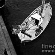 Unloading Fish At Wharf Two Monterey  Circa 1950  Art Print
