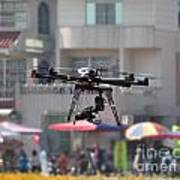 Unmanned Aerial Vehicle With A Digital Camera Art Print