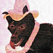 Untitled Dog With Hat Art Print