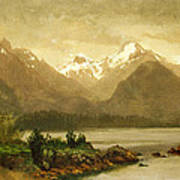 Untitled Mountains And Lake Art Print