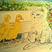 Unwelcome Kitty Art Print