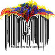 Unzip The Colour Code Art Print
