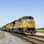 Up 8587 Southbound From Traver Art Print