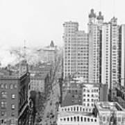Up Broadway 1901 Print by Steve K