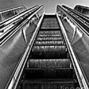 Up Escalator Art Print