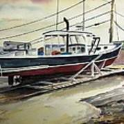 Up For Repairs In Perkins Cove Art Print by Scott Nelson
