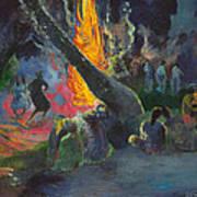 Upa Upa.the Fire Dance Art Print