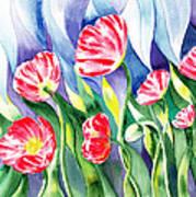 Upcoming Wind Poppy Field Print by Irina Sztukowski