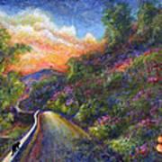 Uphill Art Print