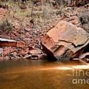 Upper Emerald Pools At Zion National Park Art Print