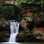 Upper Falls At Hocking Hills State Park Art Print