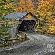Upper Falls Covered Bridge Art Print