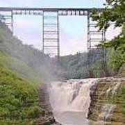 Upper Falls Under The Portage Bridge Art Print