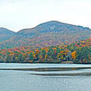 Upper Lake Toxaway In The Fall 2 Art Print