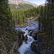 Upper Sunwapta Falls - Canadian Rockies Art Print