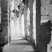 Upper Walkway With Arches Of The Old Roman Colloseum At El Jem Tunisia Art Print