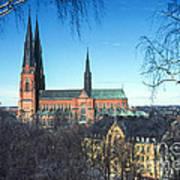 Uppsala Cathedral Art Print