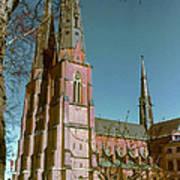 Uppsala Cathedral Spires  Art Print