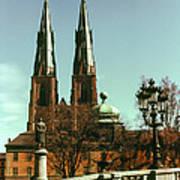 Uppsala Cathedral Steeples Art Print