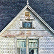 Upstairs Windows In Old House Print by Jill Battaglia