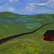 Upstate Lakes Region Art Print
