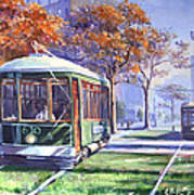 Streetcars Uptown New Orleans Art Print