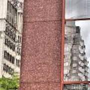 Urban Abstract Downtown Reflections Dayton Ohio Art Print