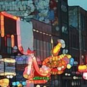 Urban Abstract Nashville Neon Art Print by Dan Sproul