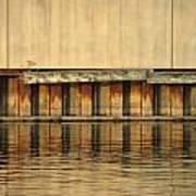 Urban Abstract River Reflections Art Print