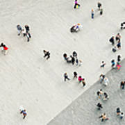 Urban Crowd From Above Art Print
