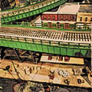 Urban Dock Art Print