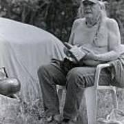 Urban Elder Vern Harper Cleaning Pipes Art Print
