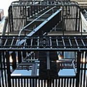 Urban Fabric - Fire Escape Stairs - 5d20592 Art Print