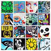 Urban Faces Art Print